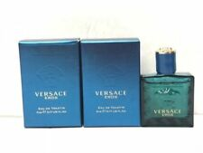 Lot of 2 Versace Eros 0.17 oz/5ml Eau De Toilette Splash Mini for Men