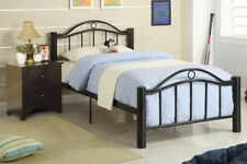 F9010T Black Metal Twin Size Complete Bed Frame