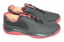 Prada 'Punta Ala' Americas Cup Sneakers Nero Rubino Leather Mesh - 11US (T48)