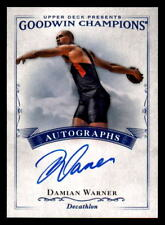2016 Upper Deck Goodwin Champions Autographs #ADW Damian Warner Auto (ref 30845)
