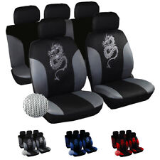 Autoschonbezüge Sitzbezüge Sitzbezug Universal Schonbezug Drache Grau 7211