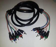 Lot Of (10) STEREN 6' 5-RCA COMPOSITE VIDEO / AUDIO CABLE 257-606BK