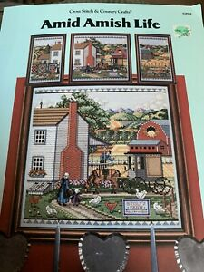Counted Cross Stitch Amid Amish Life Leaflet