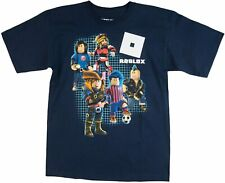 Roblox Youth Boys Multiple Character Navy Tee Shirt New S, XL