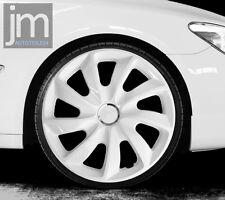 """4 x Radkappen STIG Weiß White 15"""" Zoll Radzierblenden PERFEKT für weiße Autos !!"""