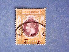 Hong Kong. KGV 1912 30c Purple & Org-Yellow. SG110. Wmk Mult Crown CA. P14. Used