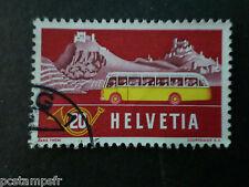 SUISSE SCHWEIZ, 1953, timbre 538, CAR POSTES, oblitéré, VF STAMP, VALAIS en ETE