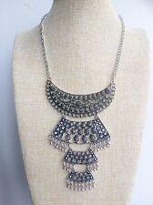 Plata Boho Chic de Estilo Vintage Bohemio Gypsy Tíbet Collar mexicano