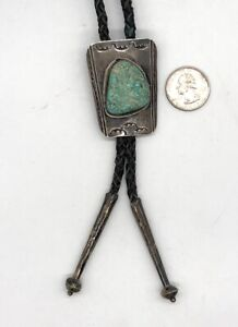 Vintage Native American Turquoise Bolo Tie