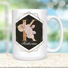 Beautiful Gold Pink Orchid Monogram Name Coffee Mug Microwave Dishwasher Safe photo