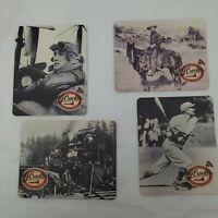 4 - C. J. Crocker Train Plane Baseball Cowboy Coasters