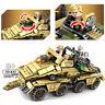 395pcs Militär Panzerwagen Bausteine mit Armee Soldaten Figuren Waffen Spielzeug