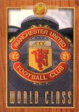 FUTERA  PLATINUM  MANCHESTER UNITED  1998 FOOTBALL WORLD CLASS, CASE   CARD