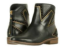 UGG Black Leather Studded Zip Chelsea Ankle Casual Boots UK 6.5 39