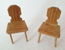 Stuhl Stühle Küche alte Puppenstube  Puppenmöbel Holz Eßzimmer
