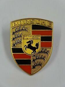 356 BONNET HANDLE ORANGE CREST ABC 644.559.210.00 (fits Porsche ) emblem badge