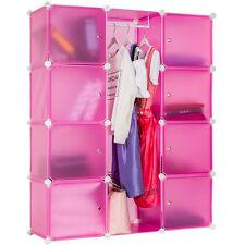 Etagère enfichable  Armoire  Penderie à vêtements rangement système clip pink