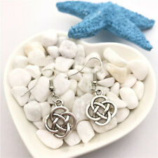 Chinese Knot Earrings Tibet silver Charms Earrings Charm Earrings for Her