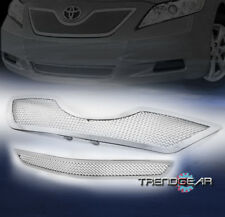 2007-2009 TOYOTA CAMRY UPPER + BUMPER STAINLESS STEEL MESH GRILLE GRILL CHROME