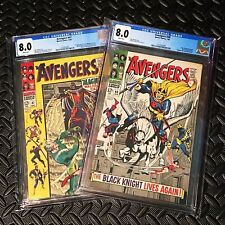 💥DANE WHITMAN/BLACK KNIGHT 1ST APPS💥 AVENGERS #47 & 48 CGC 8.0s