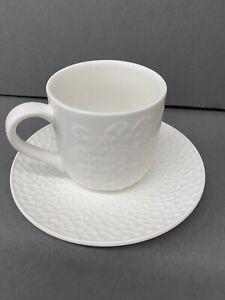 YEDI HOUSEWARES - 6 piece Espresso Cups & Saucers WHITE 3.5 oz