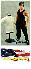 ❶❶1/6 white Chinese-style Costume black pants Bruce Lee Kung Fu suit USA❶❶