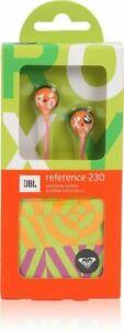 JBL Roxy Reference 230 Earbuds (REF230OP) In-Ear Headphones - Orange / Pink NEW