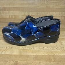 Dansko Pro XP Closed-Back Clogs in Blue Hibiscus Women's Clogs 3912560202 Sz 39
