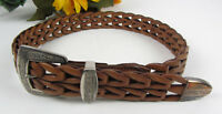 Vintage & Unique Leather Links Western Belt  Small 27""