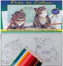 Premium 20 crayons Adulte anti-stress animaux Livre de coloriage Relax S1015