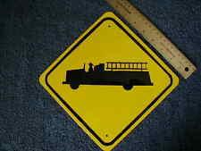 METAL MINI  FIRE TRUCK  TRAFFIC SIGNS MINIATURE
