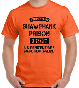 Shawshank Redemption T-Shirt Property Of Prison Mens Funny Movie Stag Doo Do