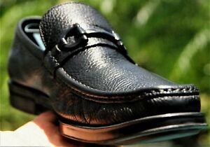 Salvatore Ferragamo  Mans black leather  horse bit  Dress Loafer Sze 10.1/2 EE