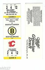 Calgary Flames Last Game at Boston Garden NHL Hockey Bruins Unused Ticket 1993