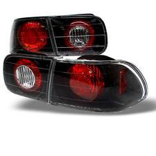 Fit 92-95 Civic 2/4Dr Black Rear Tail Lights Brake Lamp DX EX LX Coupe Sedan