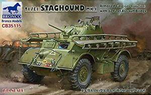 Bronco CB35115 T17E1 Staghound Mk.I with 12 Feet Assault Bridge scale 1/35