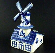 Boma Delfts Blauw Holland Vintage Windmill Music Box Tulpen aus Amsterdam tulip