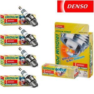 4 Pack Denso Iridium Power Spark Plugs for Renault R12 1.6L L4 1971-1977 Tune