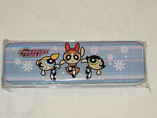 NEW ~POWERPUFF GIRLS~  1- METAL PENCIL CASE ,BUBBLES,BUTTERCUP,BLOSSOM