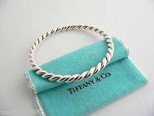 Tiffany & Co Silver Twist Twirl Bangle Bracelet Stackable Rare Classic