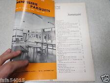 LE NOUVEAU JOURNAL DE CHARPENTE MENUISERIE PARQUETS N° 9 octobre 1961 H VIAL *