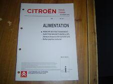 DOCUMENT CITROËN ALIMENTATION INJECTION MAGNETI MARELLI 6PL BOITIER PAPILLON