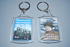 World War II Key ring - Winston Churchill - RAF - Battle of Britain - 1939-45