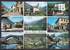 BERGAMO PIAZZA BREMBANA 04 SALUTI da... VEDUTINE Cartolina viaggiata 1966