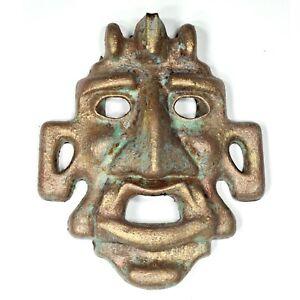 """Art sculpture """"Ares mask"""" 23cm unique piece Andreas Loeschner-Gornau"""