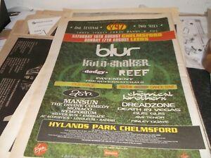 V 97 FESTIVAL BLUR, KULA SHAKER /COLLECTORS ITEMS / POSTER 1997  FRAMING