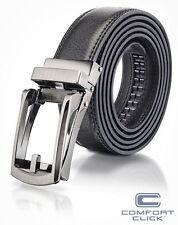 COMFORT CLICK Leather Belt Men Automatic Adjustable Black Brown US Fast Shippin&