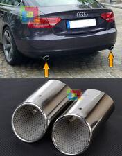 AUDI A5 SPORTBACK 2008+ COPPIA TERMINALI DI SCARICO CROMATI ACCIAIO INOX SLINE