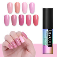 LILYCUTE 5ml Pink UV Gel Nail Polish Soak Off UV/LED Gel Nails  Salon