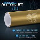 36 X 60 Inch Gold Brushed Aluminum Vinyl Wrap Sticker Decal Air Bubble Free
